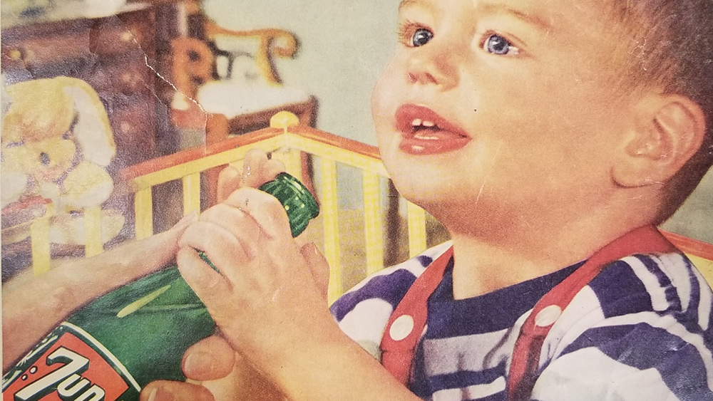 Image: Same soda companies now pushing transgenderism mutilations of children once promoted sugary soft drinks for infants