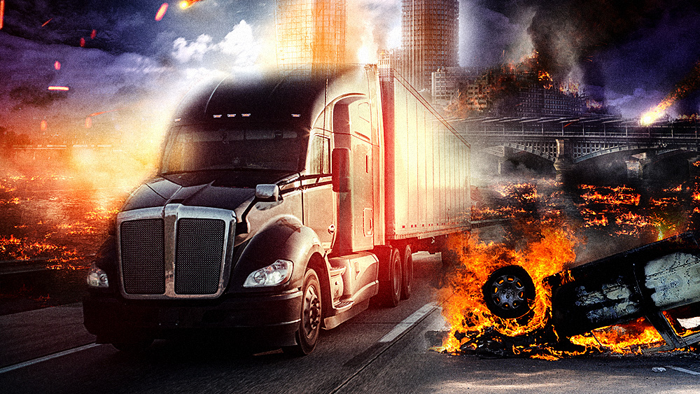 "Image: Truckers' transportation coalition warns of ""super supply chain crisis"" as America's cities may collapse into war zones: food, fuel, medical supplies could all be disrupted"