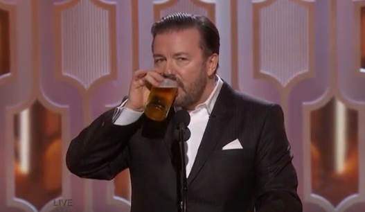 Image: Ricky Gervais destroys Hollywood hypocrisy at Golden Globes, calls out lying actors for fake outrage politics