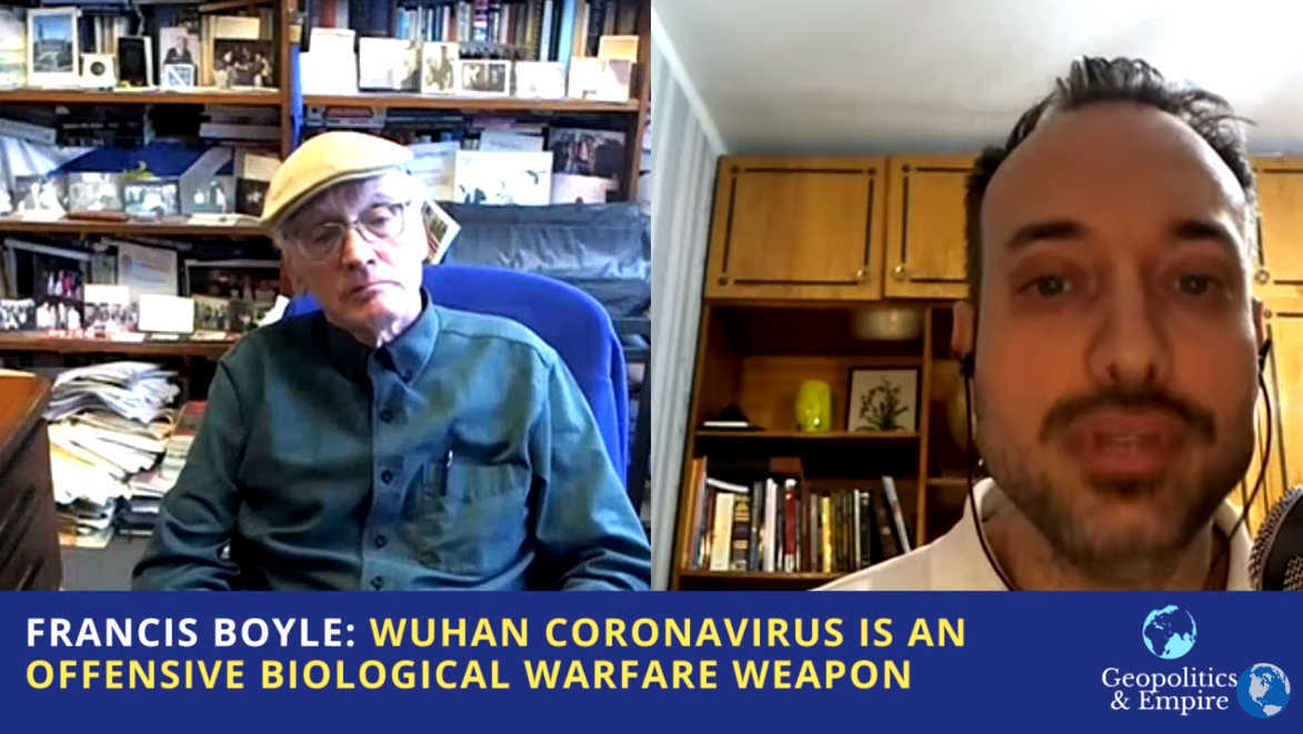 "Image: Bombshell transcript: Dr. Francis Boyle's interview on coronavirus as an ""offensive biological warfare weapon"""