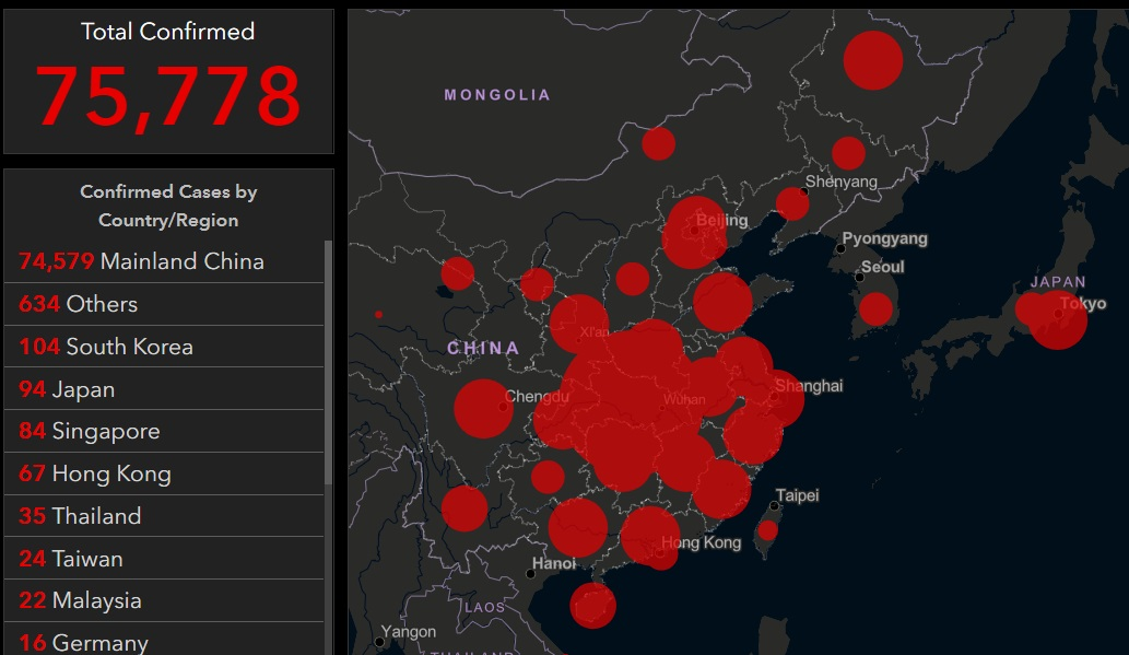 "Image: Coronavirus infections, deaths and ""community outbreaks"" EXPLODE outside China; CDC warns travelers about ""community spread"" in six nations as infections skyrocket in Korea"