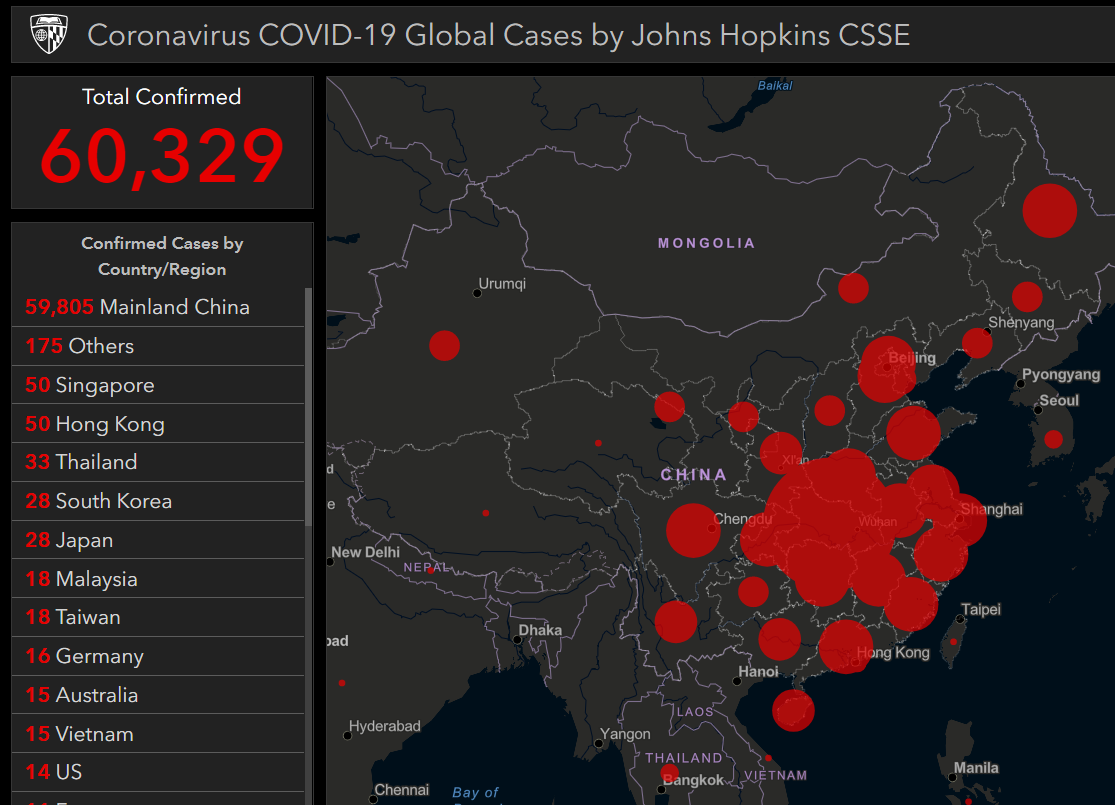 Image: China reports 33% surge in coronavirus infections over 24 hours, bringing new (rigged) total to over 60,300