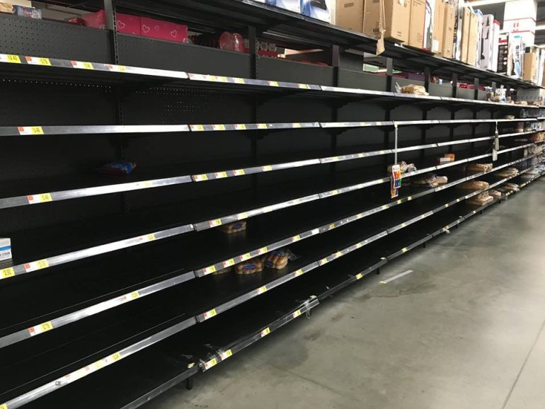 Image: Shopping at Walmart now resembles a police state FEMA camp experience thanks to coronavirus: Our dystopian future has arrived