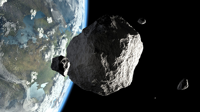 Image: Asteroid nearly collides with Earth in close call fly-by