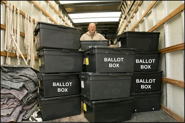 Image: Wisconsin authorities recover trove of pro-Trump ballots that were discarded in a ditch