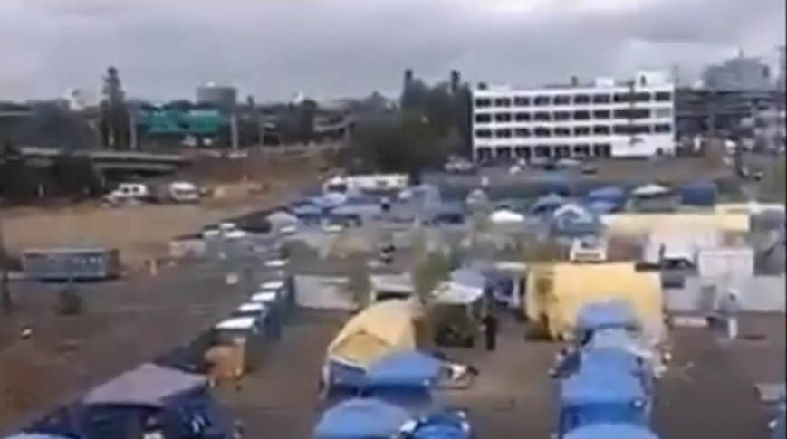 "Image: Antifa ""war encampment"" found in Portland, housing agitators who emerge from tents each night to unleash CHAOS and violence"