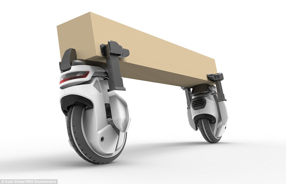 Image: Startup announces plans to use bike lanes for delivery robots to move cargo
