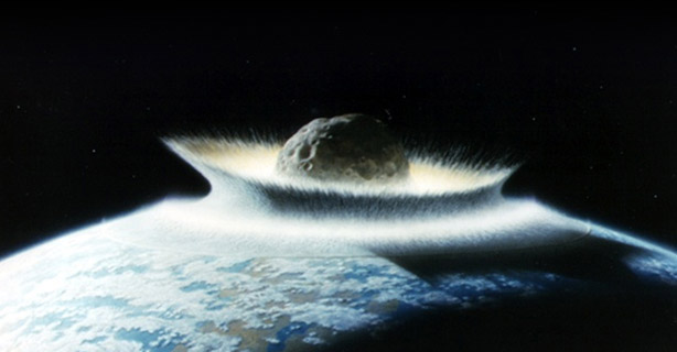 Image: Moon-creating collision may have stripped up to 60 percent of ancient Earth's atmosphere