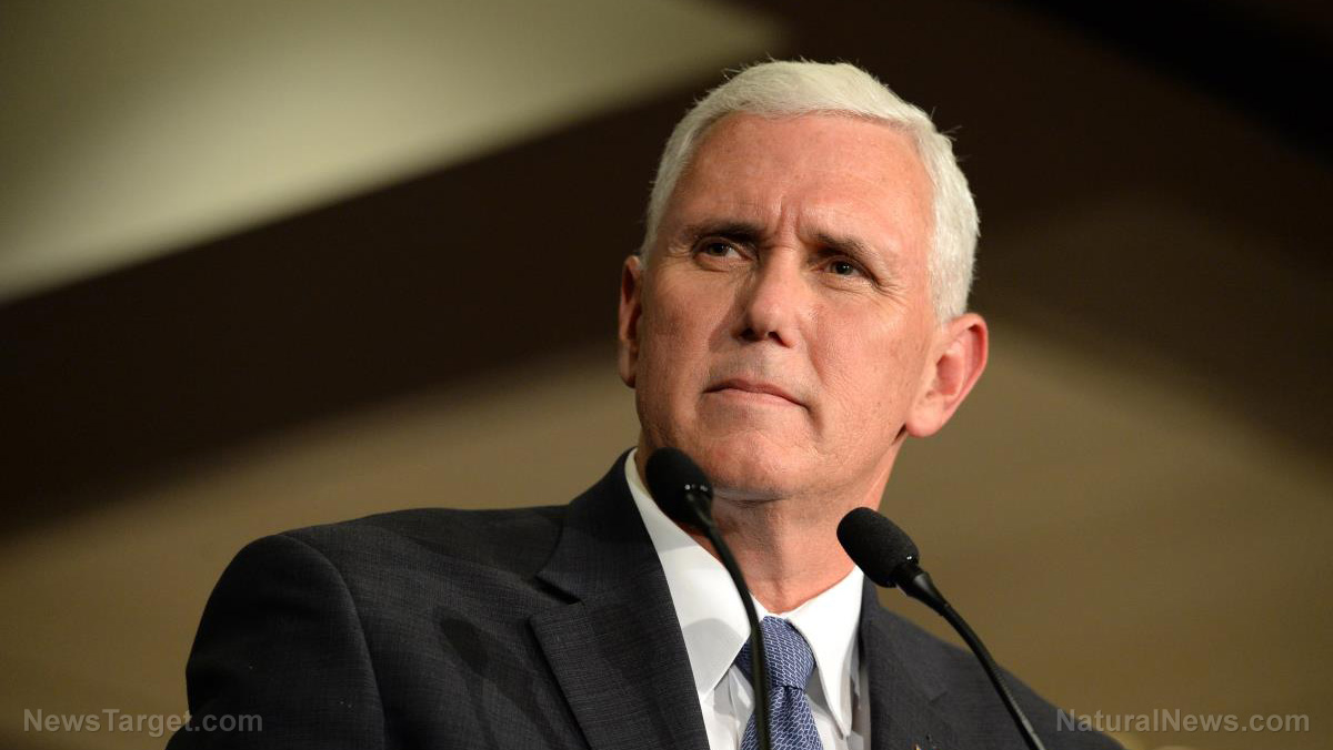 Image: Mike Pence gets fake vaccinated on live television to promote warp speed vaccines