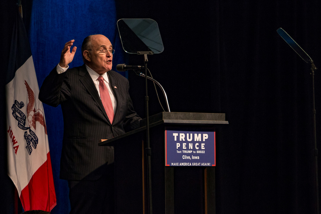 Image: Trump lawyer Rudy Giuliani says Democrat cities conspired to steal election