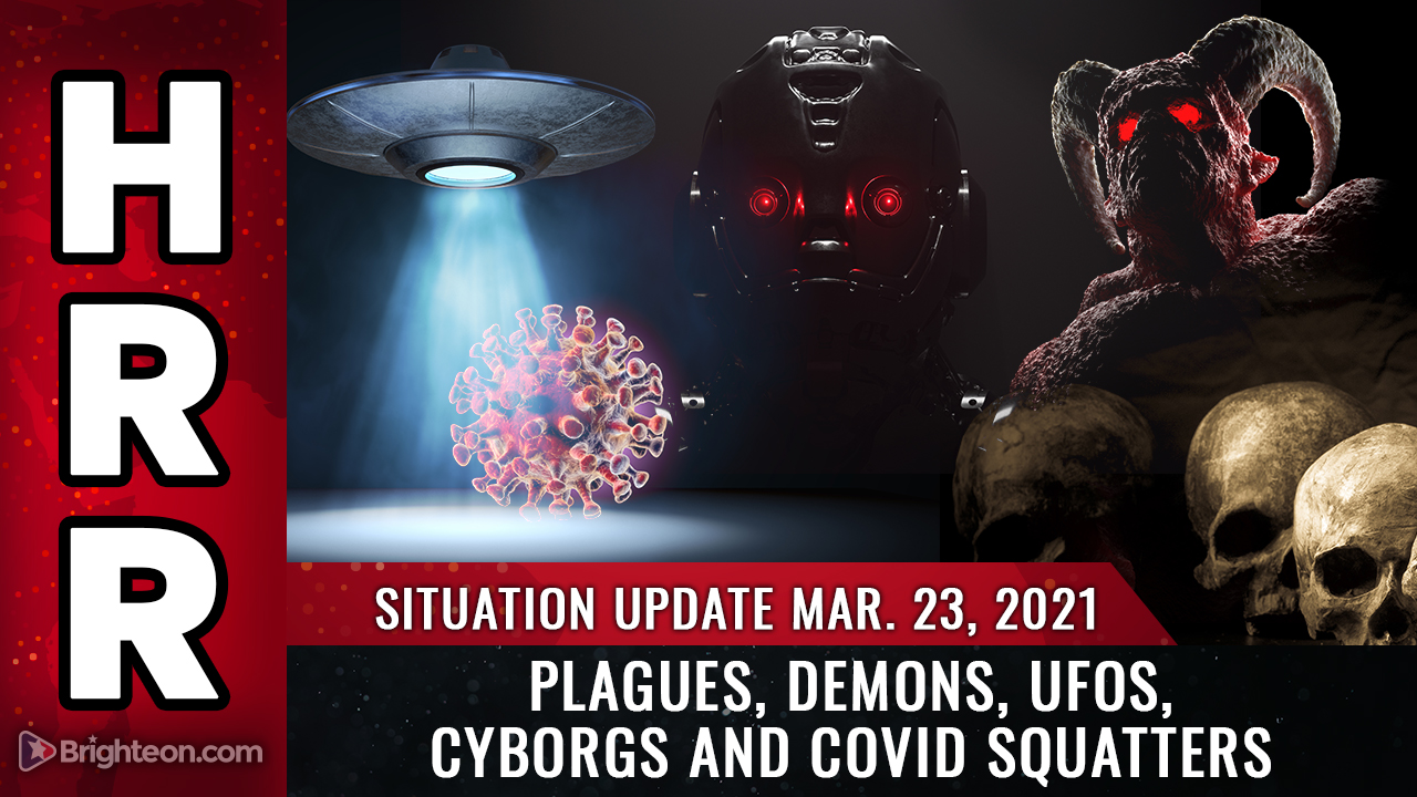 Image: Situation Update, Mar 23: It's getting BIBLICAL: Plagues, demons, UFOs, cyborgs and covid squatters