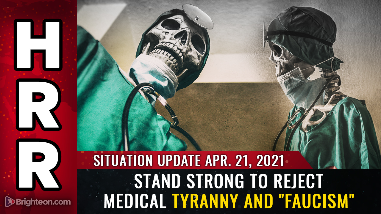 """Image: April 21st: REJECT medical tyranny and """"Faucism"""" or lose your freedom forever (and die as a medical experiment prisoner)"""