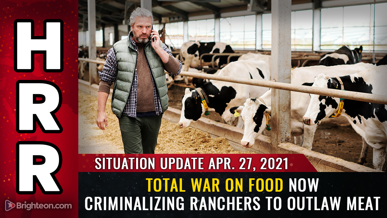 Image: Total WAR on FOOD targeting ranchers to outlaw all forms of meat, including cattle and backyard chickens