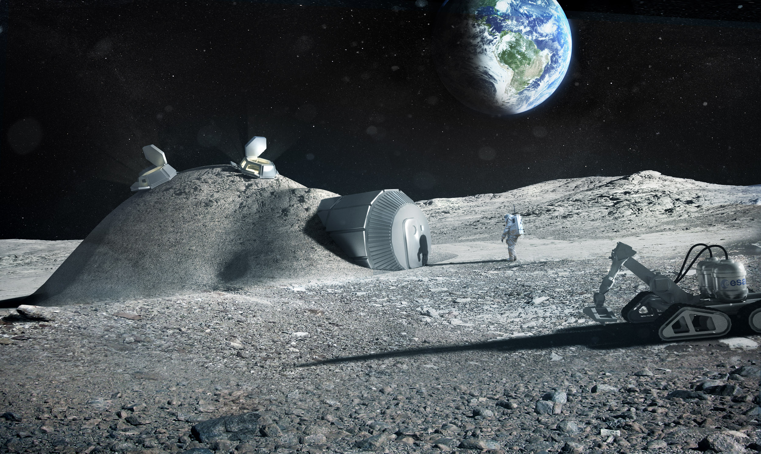 "Image: Noah's ark in space: Researchers propose building a ""gene bank"" on the MOON in case life on Earth goes extinct"