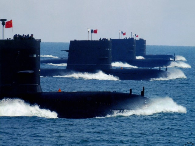 Image: China unveils new nuclear submarine that can strike any city in America