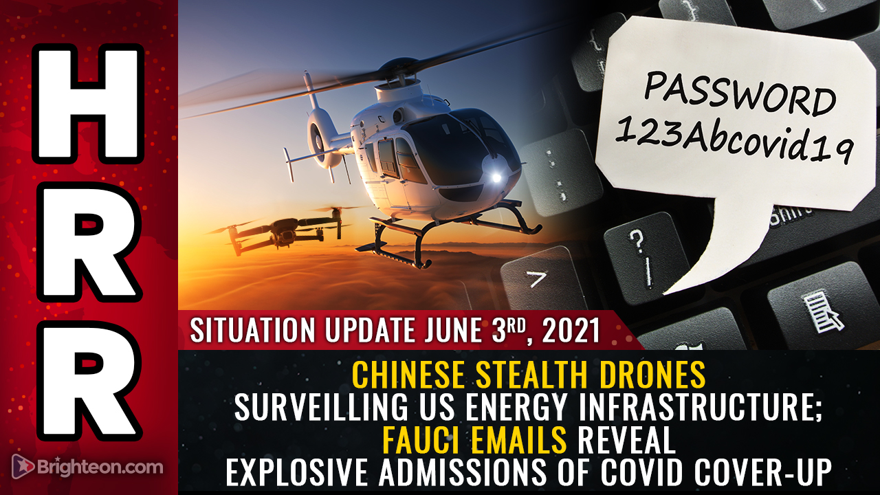 Image: Chinese STEALTH DRONES surveilling US energy infrastructure; Fauci emails reveal explosive admissions of covid cover-up