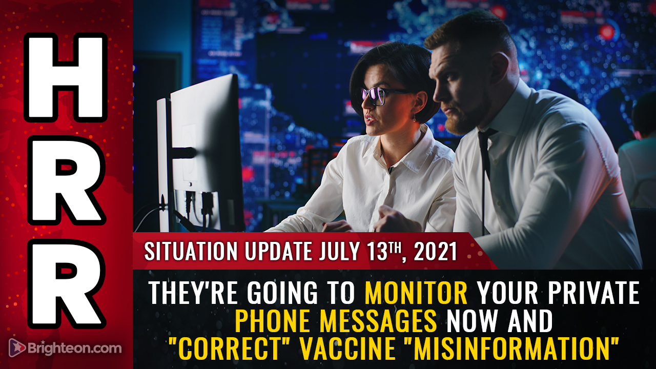 """Image: Democrats plan to monitor your PRIVATE phone messages and """"correct"""" vaccine """"misinformation"""" sent to family and friends"""