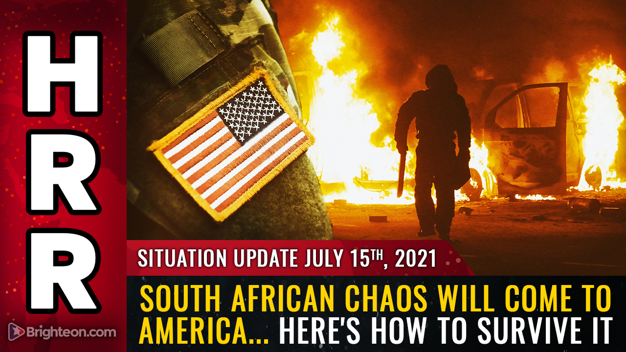 Image: South African CHAOS will come to America… farms burn, power infrastructure destroyed, rule of law in total collapse… here's how to survive it all
