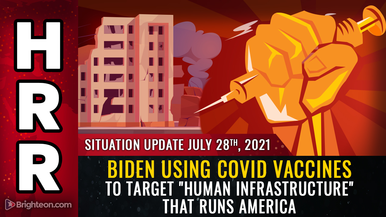 """Image: Biden's WAR on America: Target the nation's """"human infrastructure"""" with mandatory, deadly gene therapy injections to mass murder all those who keep the country running"""