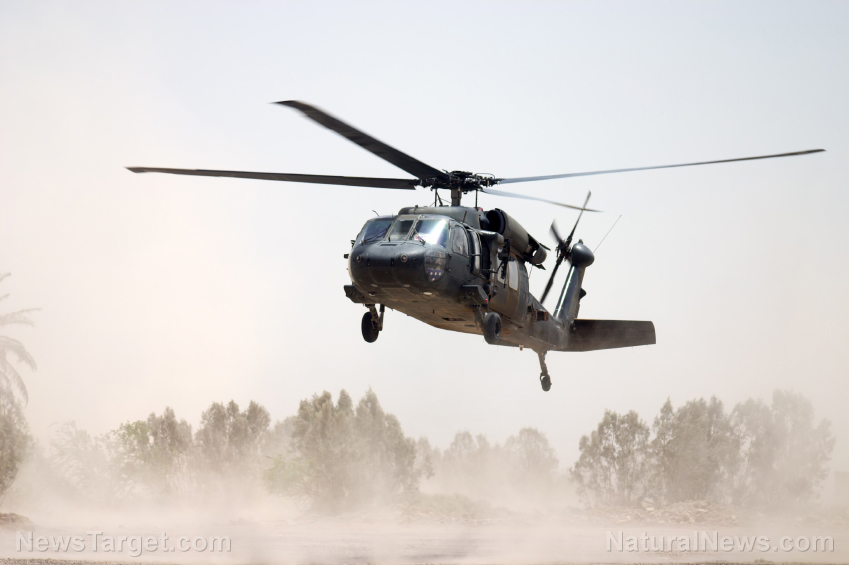 Image: Video shows the Taliban operating US-made Black Hawk military helicopter that Biden and the Pentagon handed over