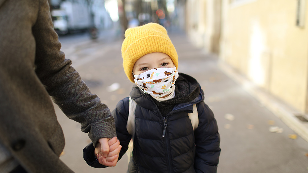 COVID-19 mortality rate among healthy children is ZERO… so why the rush to mask and vaccinate them all? Child-Mask-Outdoor-Pandemic-Covid-19
