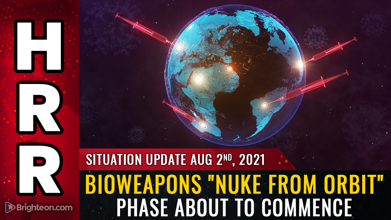 """Image: Globalists flee to private islands, underground bunkers, as they unleash bioweapons """"nuke from orbit"""" plan to decimate the human race with spike protein vaccine injections"""