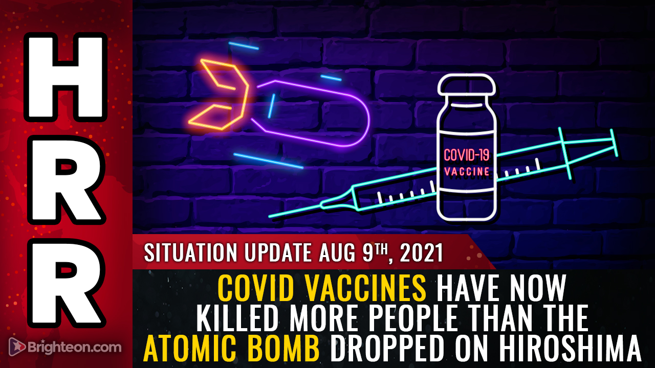 Image: MEDICAL HORROR: Covid vaccines have now killed more people than the ATOMIC BOMB dropped on Hiroshima