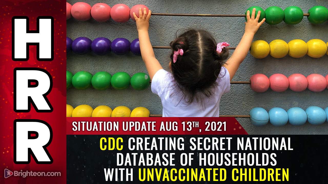 Image: BREAKING: CDC creating secret national database of households with unvaccinated children… hear the recording… plan to medically KIDNAP all unvaxxed kids?