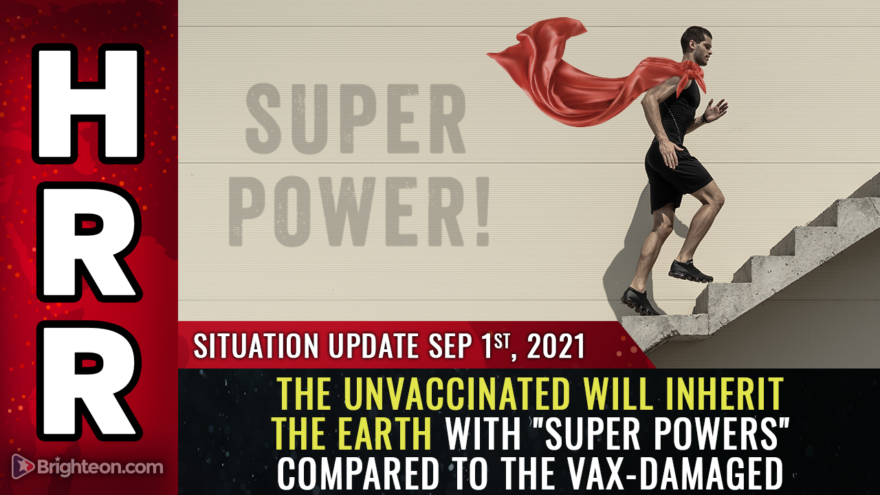 """Image: The world will soon be divided between the DAMAGED vaccinated and the undamaged, """"super powered"""" unvaccinated who will inherit the Earth"""