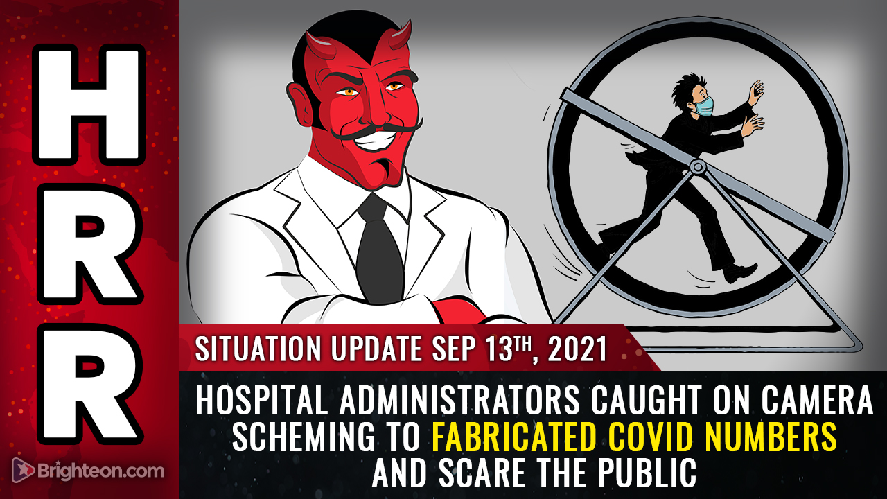 Image: Hospital administrators CAUGHT ON CAMERA scheming to fabricate covid numbers and SCARE the public