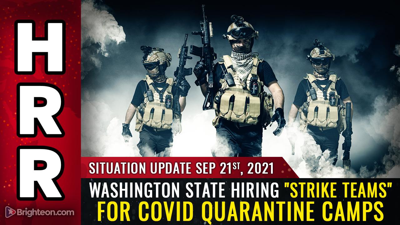 "Image: Washington State government stealth edits job posting to remove ""strike team"" from covid quarantine camp ad"