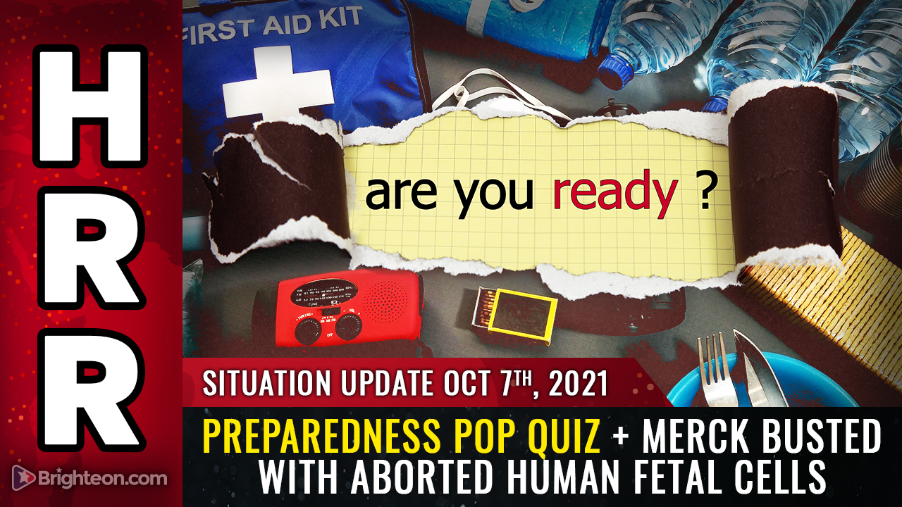 Image: Preparedness POP QUIZ, Merck busted covering up aborted human fetal cells, European nations BAN covid vax for younger people