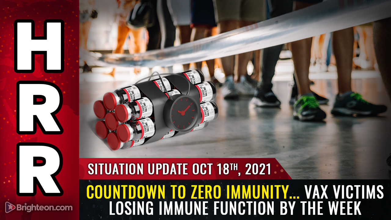Image: Countdown to ZERO IMMUNITY… vaccine victims are seeing their immune response drop by about 5% each week, with long-term consequences mirroring AIDS