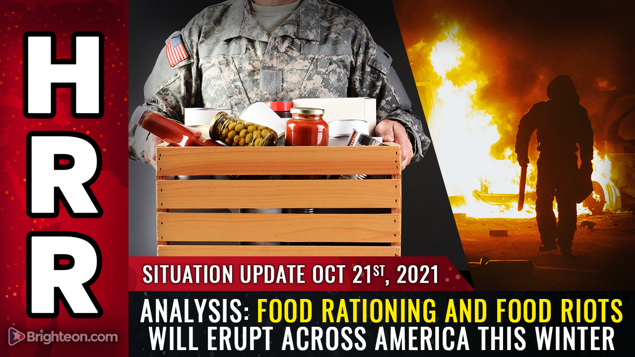 Image: ANALYSIS: Food rationing to be announced in America, followed by FOOD RIOTS and social unrest… Biden regime will invoke martial law in 2022